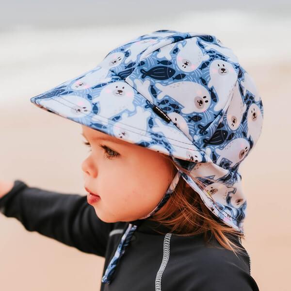 Kids Legionnaire Swim Hat Seal Model Side