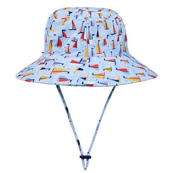 Kids Swim Hat Bucket Boat Back