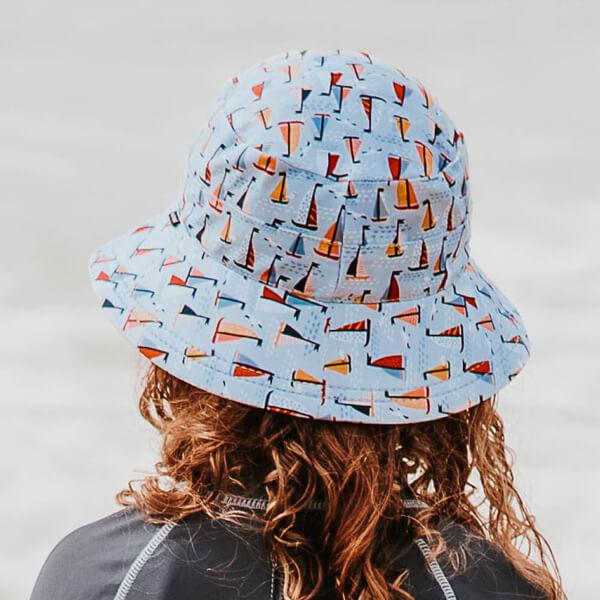 Kids Swim Hat Bucket Boat Model Back