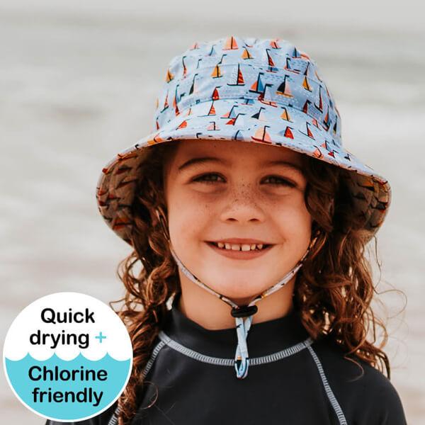 Kids Swim Hat Bucket Boat Model Front