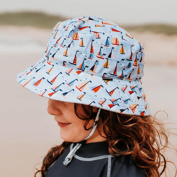 Kids Swim Hat Bucket Boat Model Side